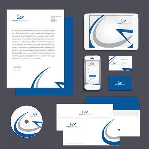 Design stationary for a new aviation brand