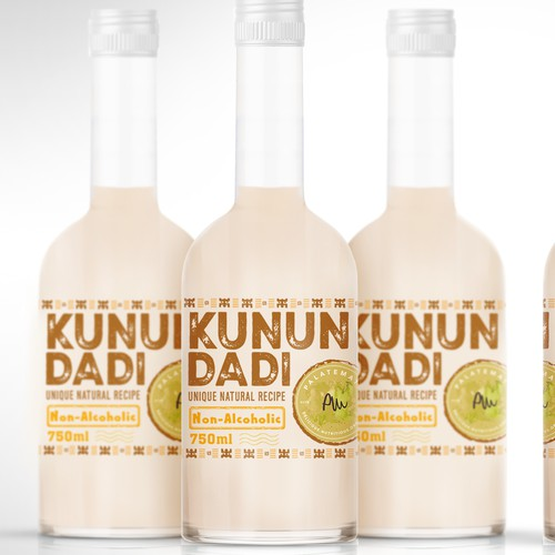 Unique ethnic natural drink label design
