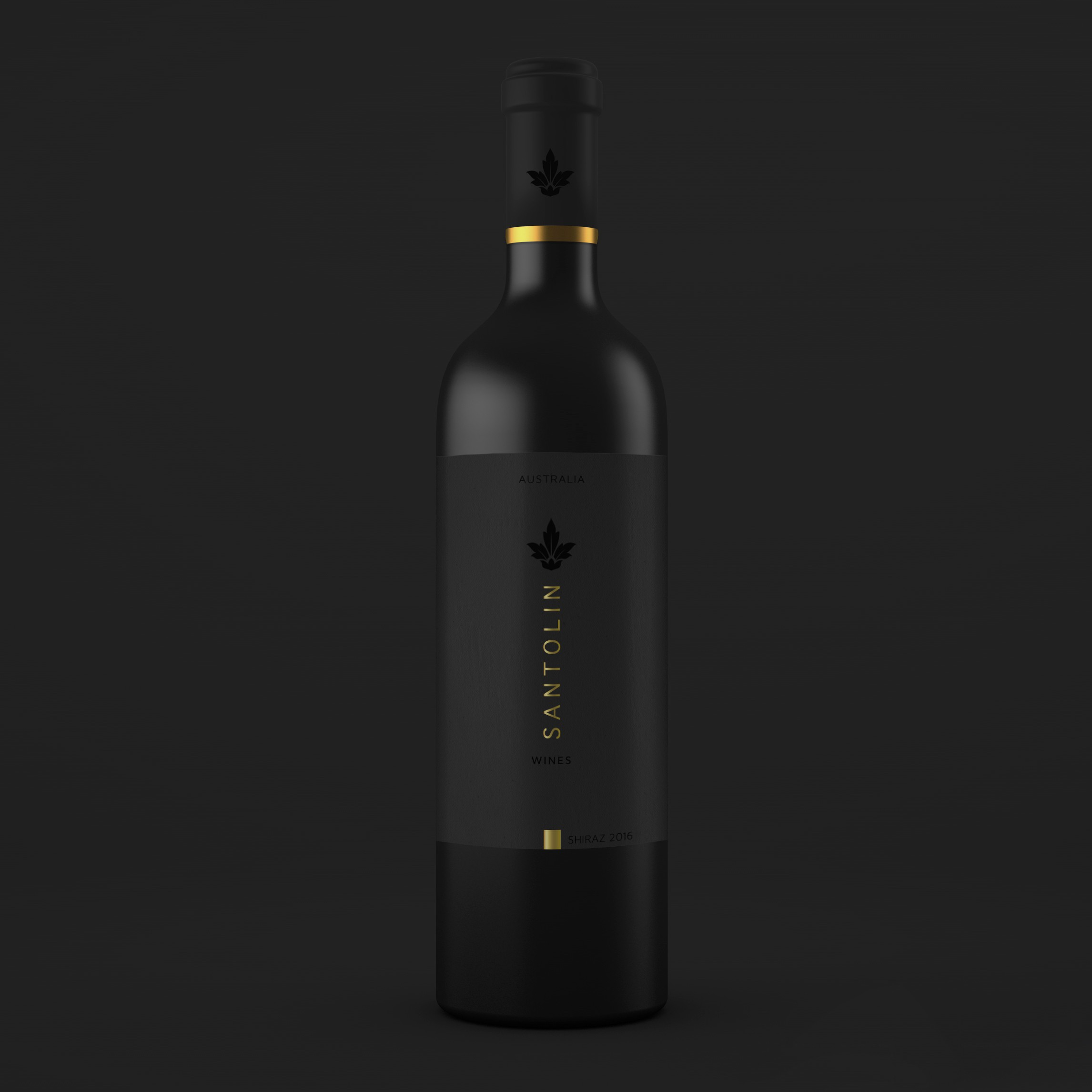Wine label: Modern and minimal