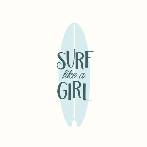 Vintage Retro Logo Surf Board Company