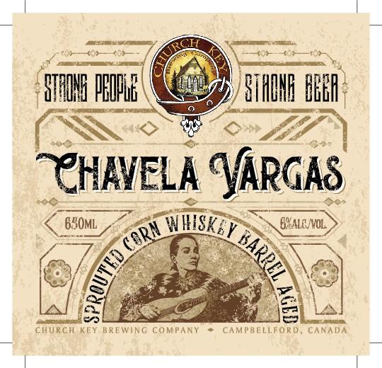 Label for Chavela Vargas beer