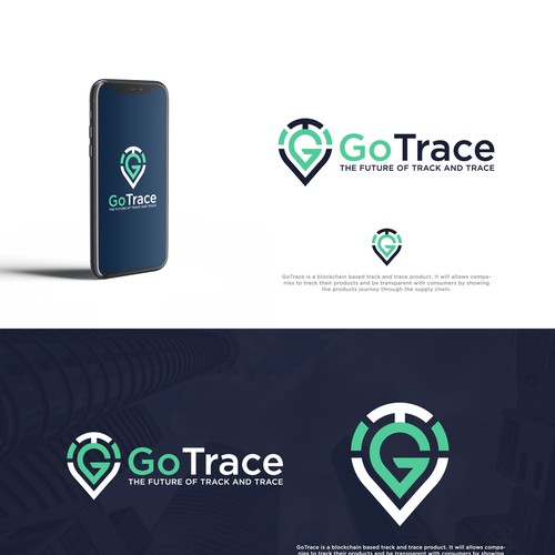 tracking & tracing logo concept