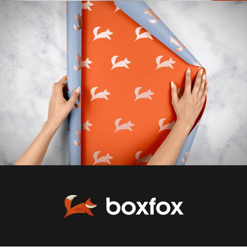 Fox logo design for a Gift & Packaging company