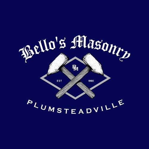 Vintage Logo feel for Masonry company.