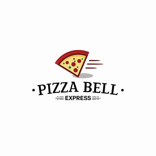 Eye catching logo concept for pizza