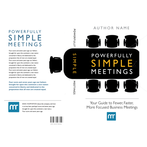 Create a powerfully simple design for a powerfully simple book