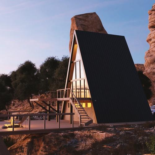 3D Rendering of House in Arizona