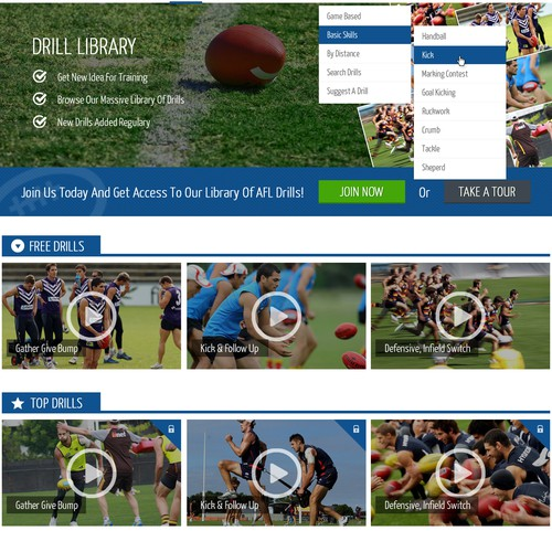 AFLCoach Website Design