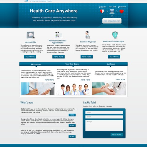 GoGoHealth needs a new website design