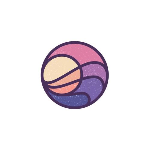 minimal sunset logo concept