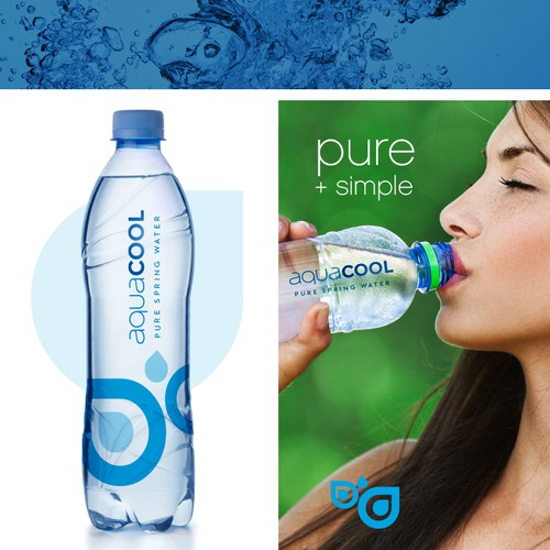 logo for aquacool bottled water brand