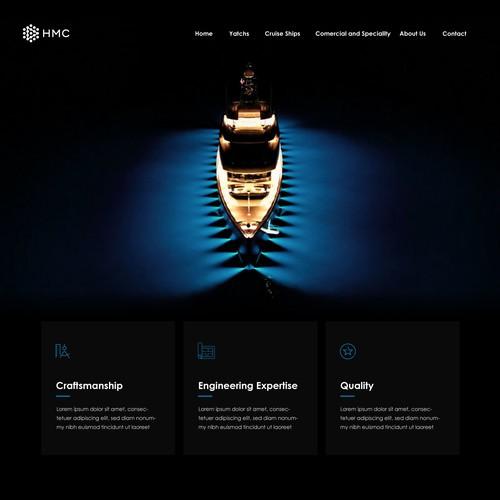 Luxury Yacht Website Design