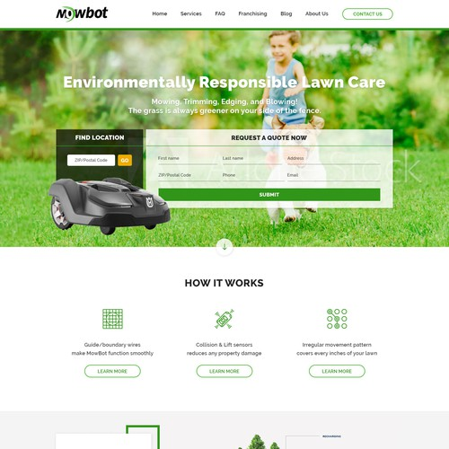 Product Landing Page (Lawn Robot)