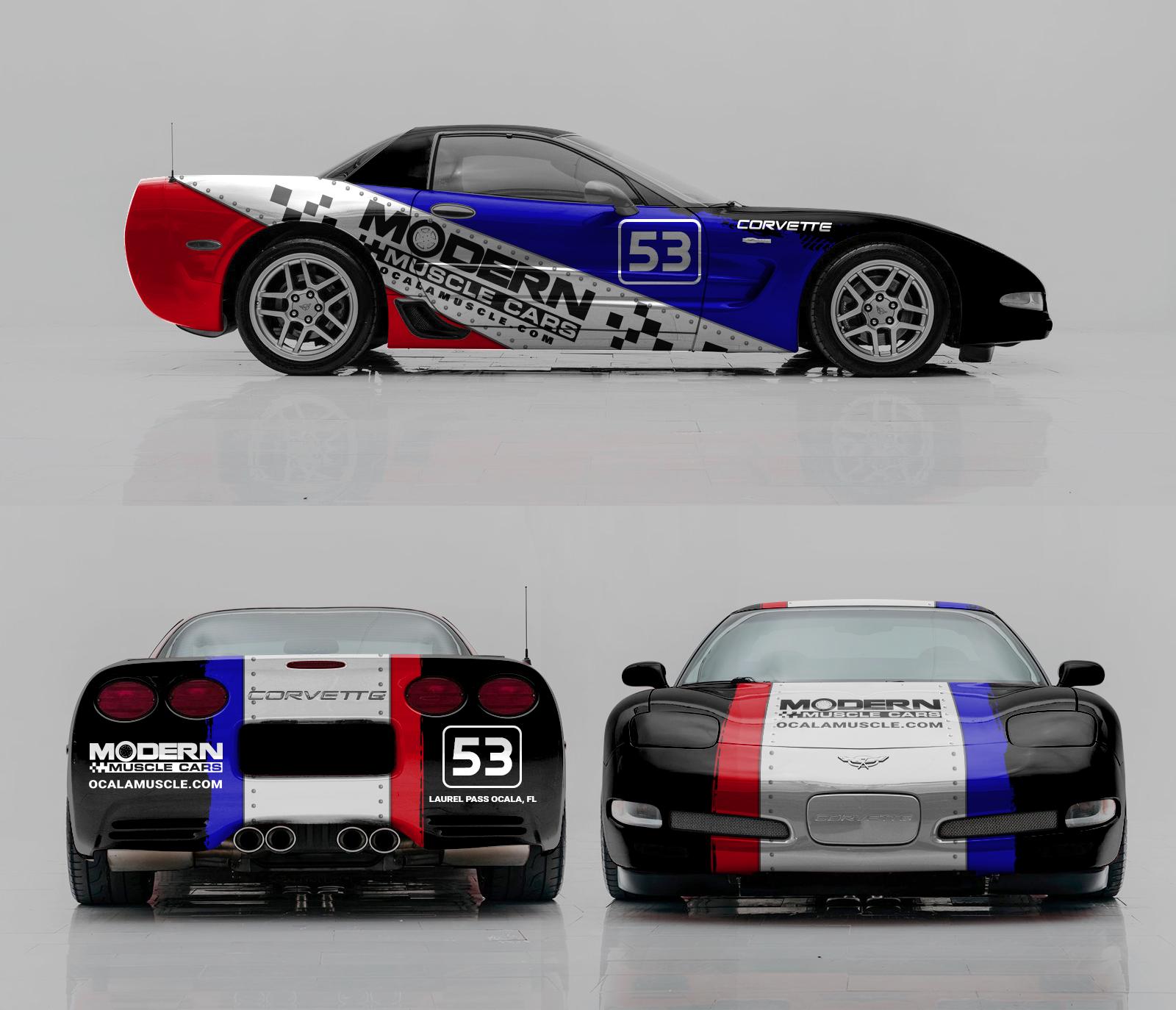 Design a cool Race Car look for our 2001 Corvette Z06