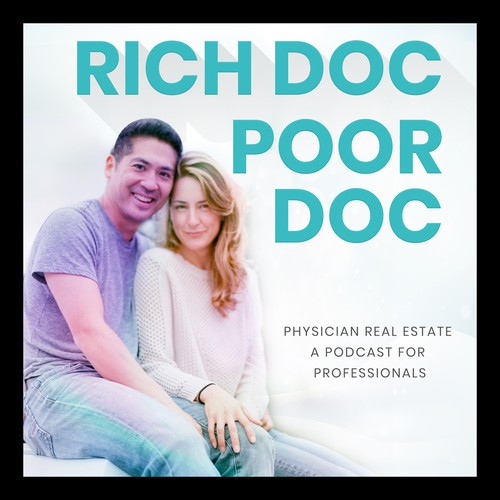 eye catching podcast cover for physicians