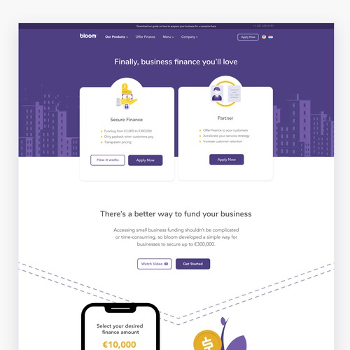 Bloom - Loan Service Website