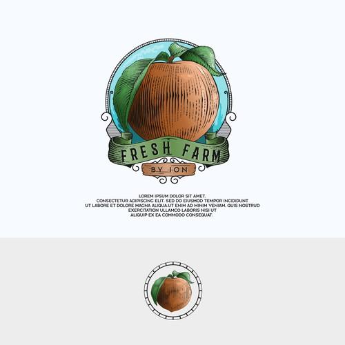 peach farm logo