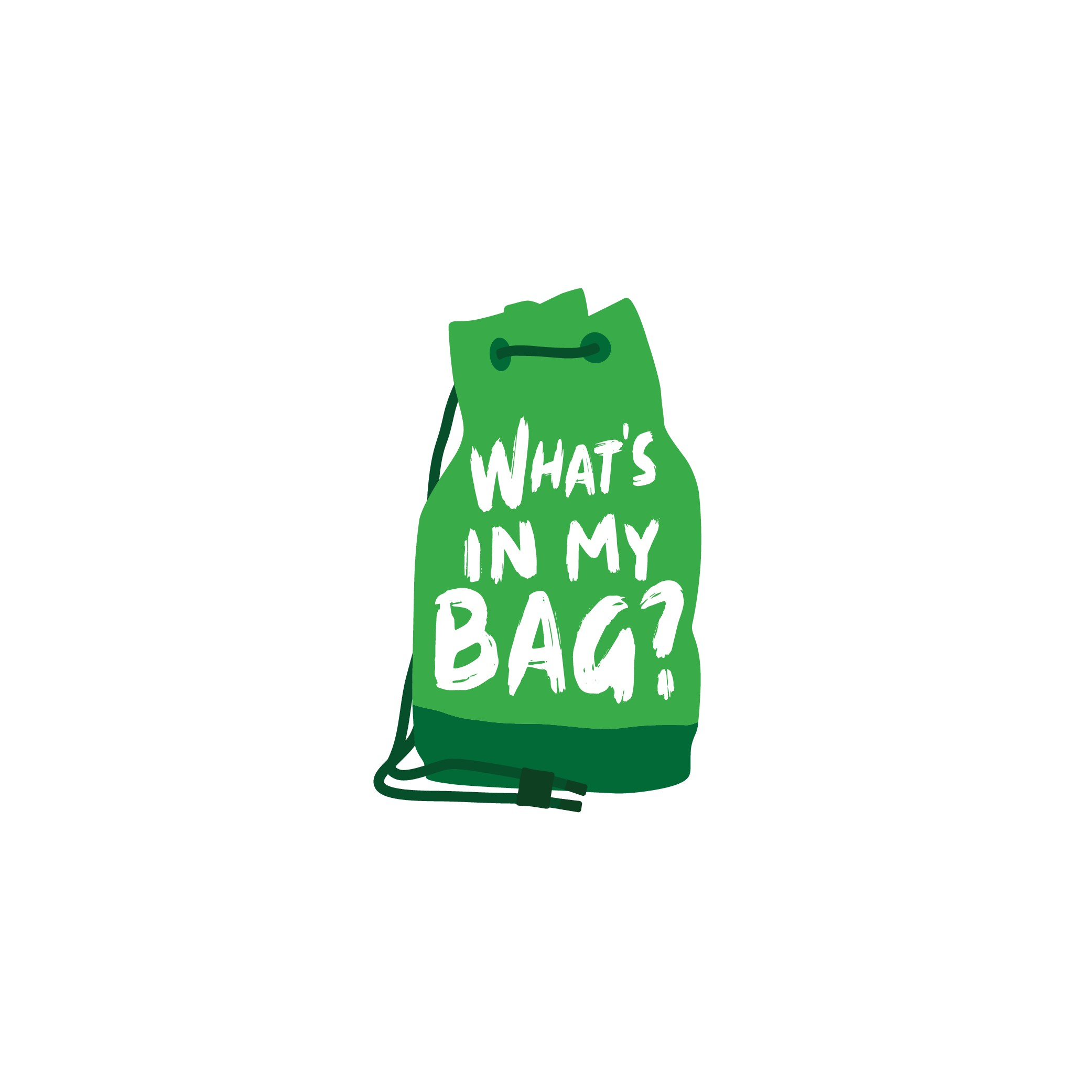 What's in my bag? A logo for the bag of your life