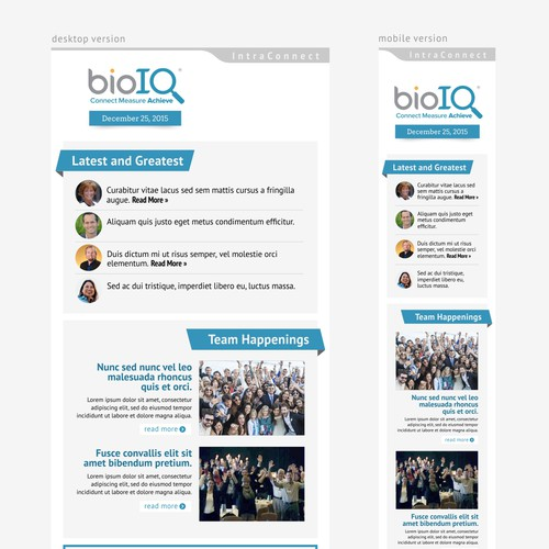 Responsive Newsletter-Email Template Design for BioIQ
