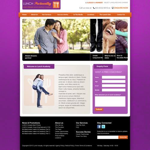 Help Lunch Actually Academy with a new website design