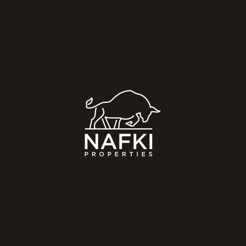 Bold logo concept For Logo Suitcase for NAFKI PROPERTIES - Chickasaw word for brothers, iconography of the great plains