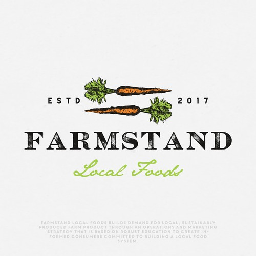 Vintage/Rustic logo fro Farmstand Local Foods company