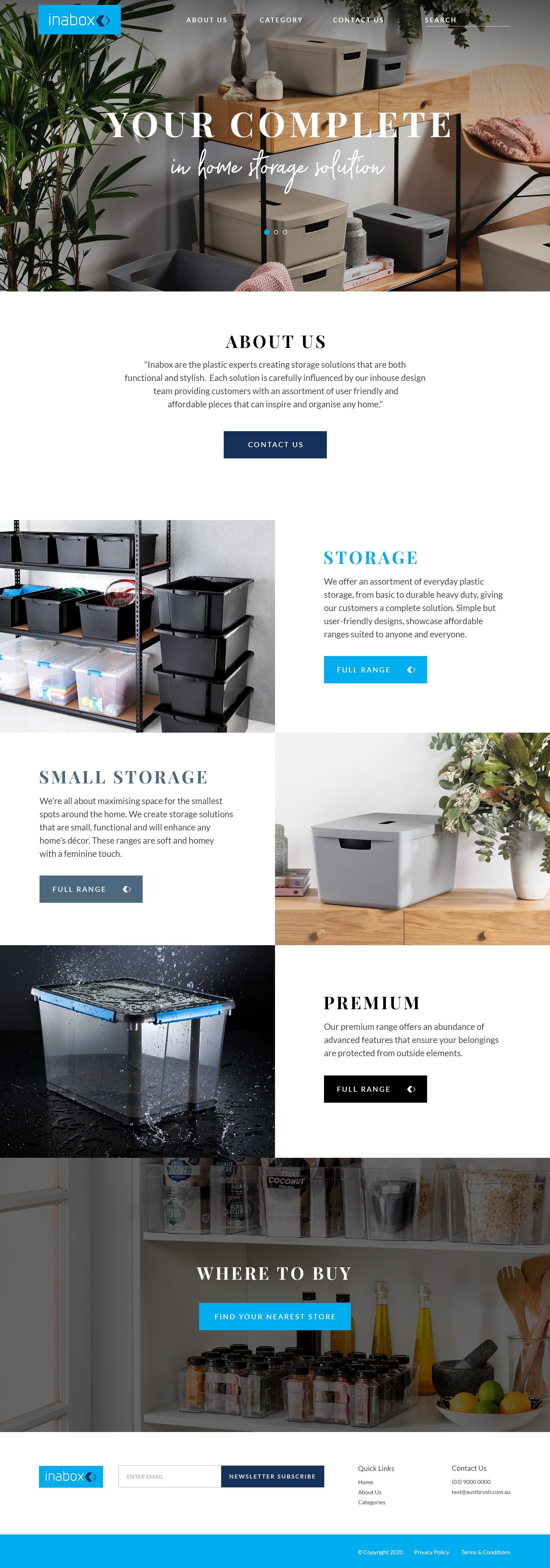 Web Design - Storage