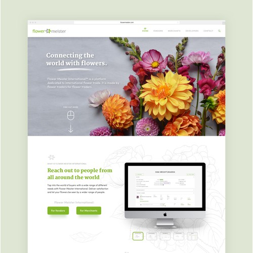 Flower Meister International (FMI) website design