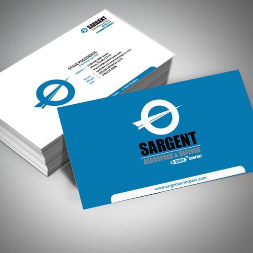 blue theme Business card