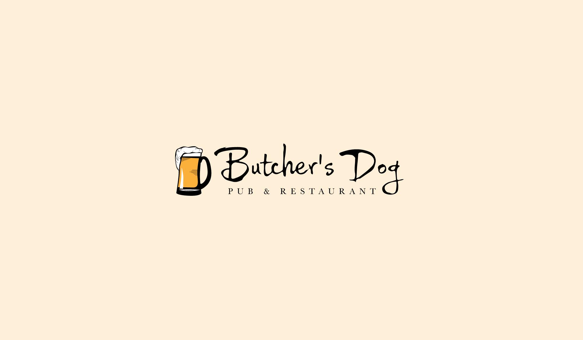 Butcher's Dog  Pub Identity Design