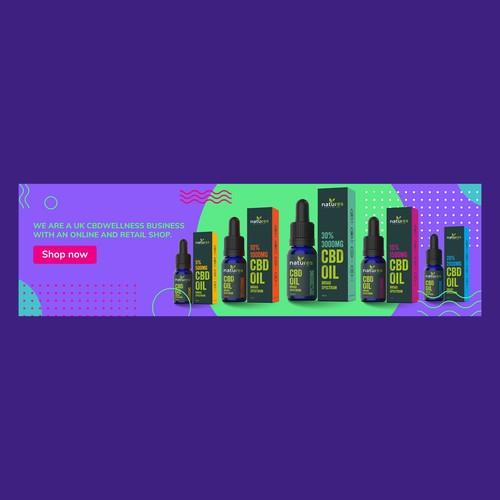 CBD Oil Website Banner