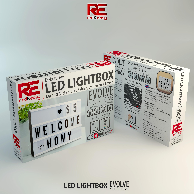 Erstelle die coolste und schönste Box für die beste LED LightBox mit umfangreichem Zubehör