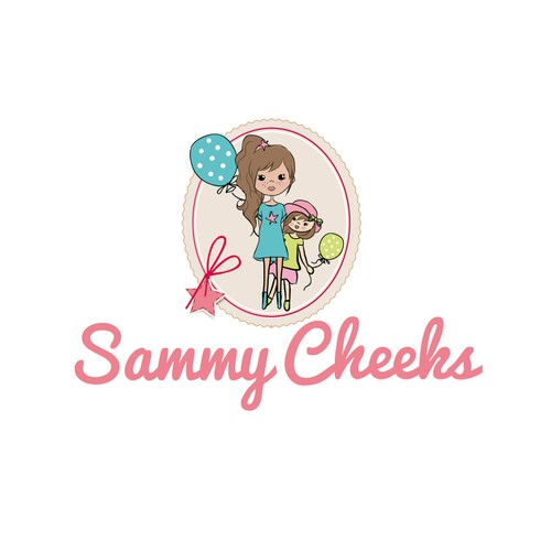 Create a fashionable whimsical logo for online clothing store for girls ages 2-8
