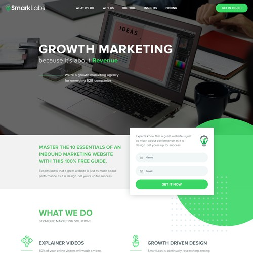 Maketing Agency website