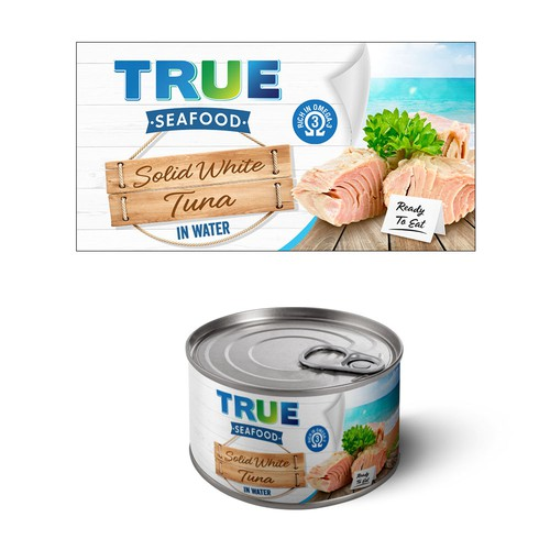 True seafood packaging label