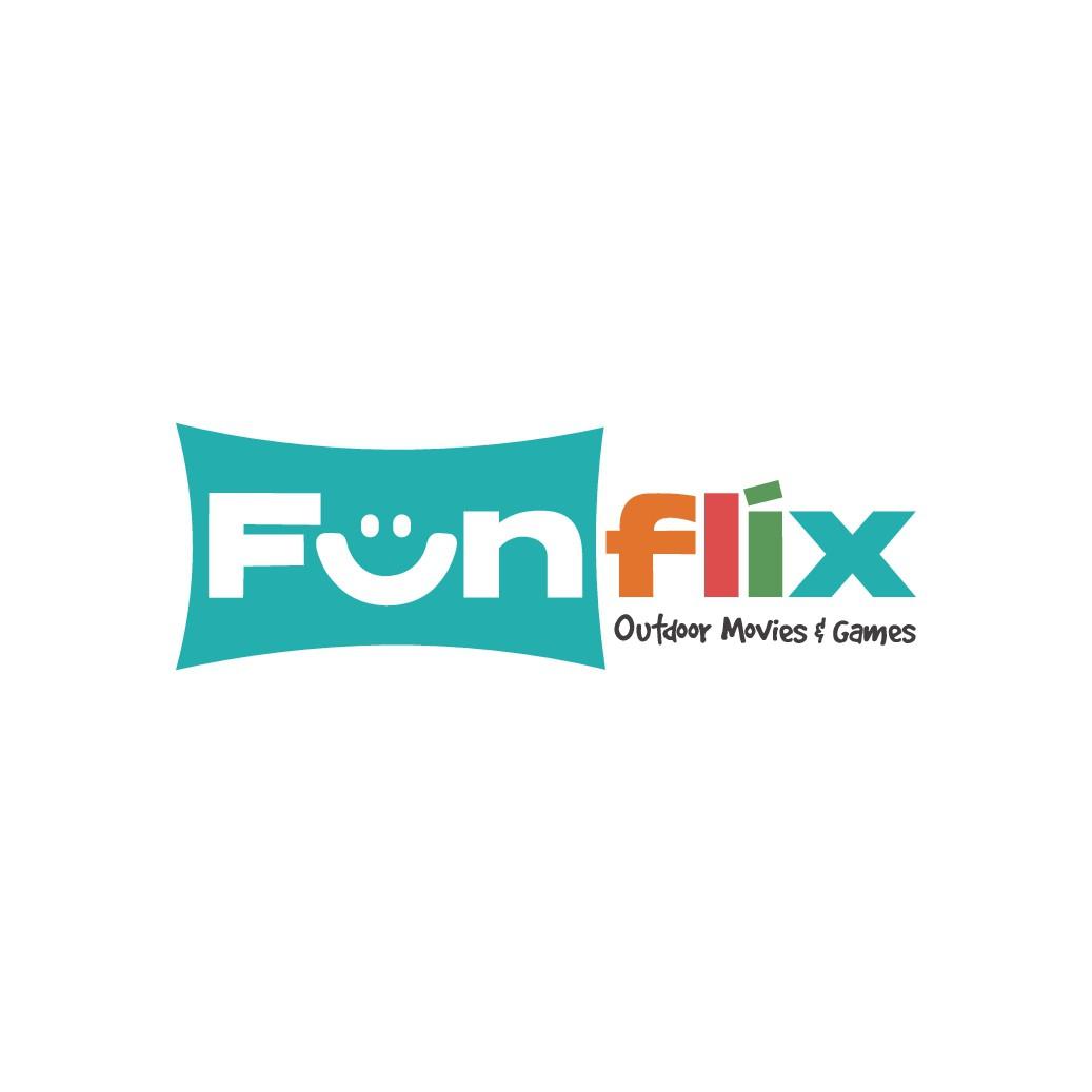Fun logo for outdoor movie business