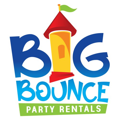 Logo design for Big Bounce Party Rentals.