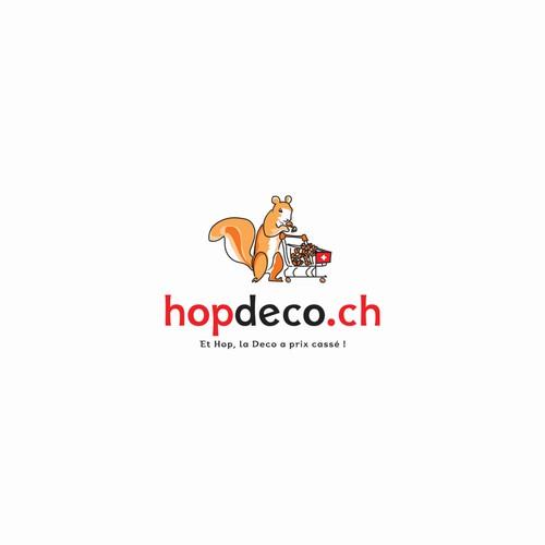 Logo for a Swiss e-shop company