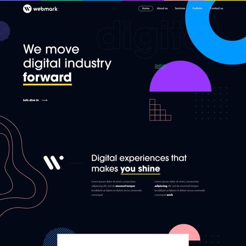 Web Design for a Digital Marketing Agency