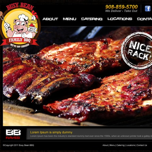 Work with the Busy Bean BBQ Franchiser to design a new website