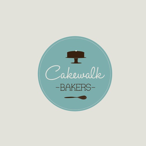 Create a mouth-watering logo for new artisanal cake maker, Cakewalk Bakers