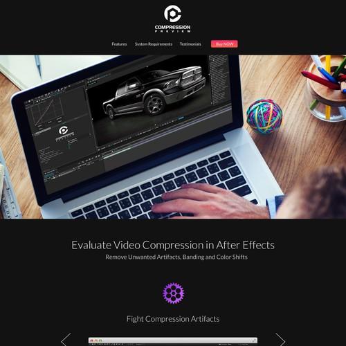CP landing page design
