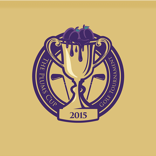 The Plums Cup - Golf Tournament Logo Design