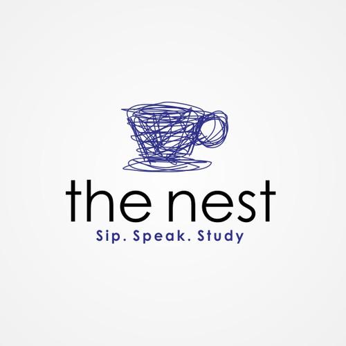 """Logo for study café """"The Nest"""""""