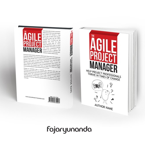 Create a book cover that illustrates agility in business