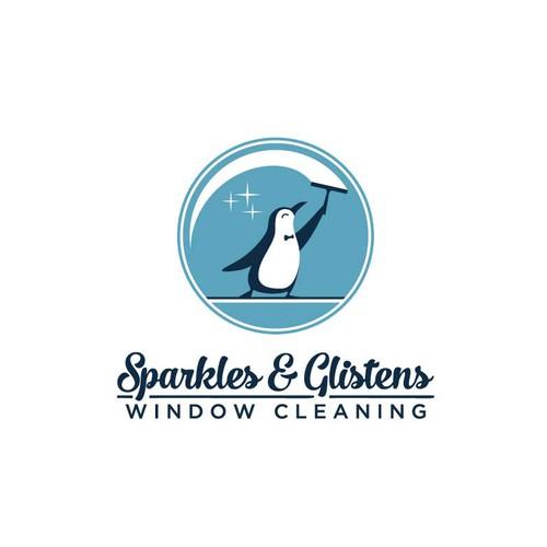 窗户清洁企鹅