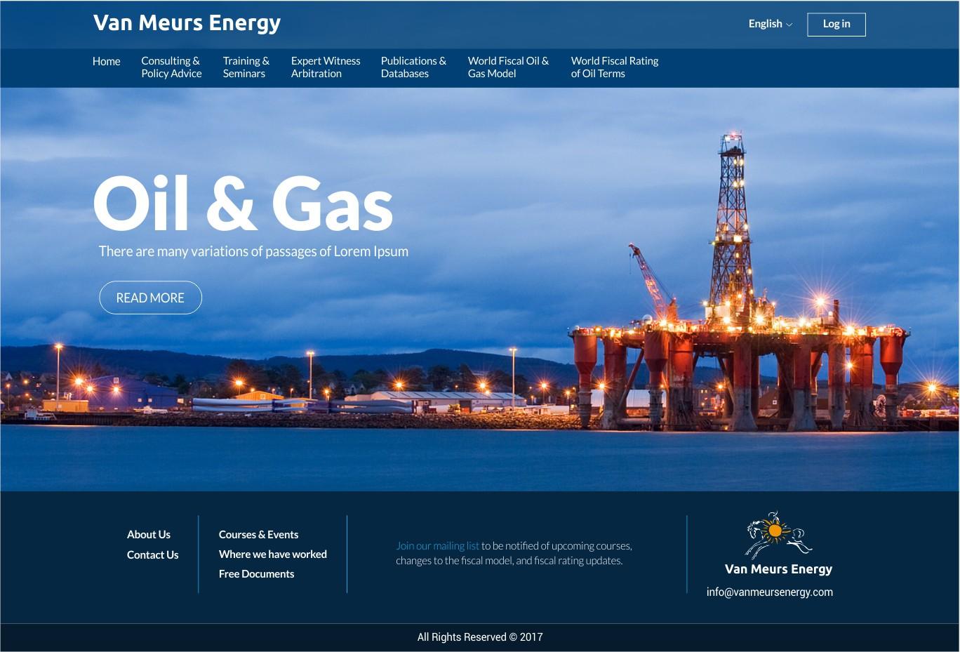 Complete design of Van Meurs Energy