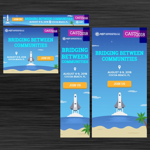 Banner Ads for CAST2018 Software Testing Conference