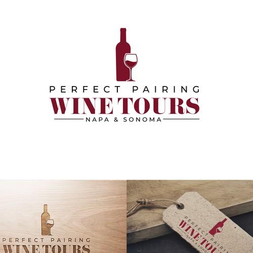Vintage logo design for a wine company