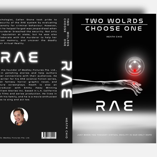 Design concept for science fiction book cover